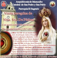 InvitacionFatimaCatedral